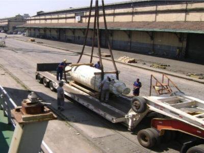 Carregamento de um cilindro especial de 50 tons
