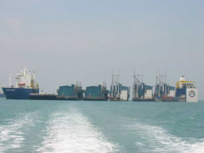 Ocean-transportation-of-5-unit-power-generators-from-Singapore-to-Aratu,-Brasil