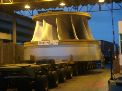 Transporte marítimo de um Rotor para Usina Termoelétrica – Taubaté - Congo via Antuérpia